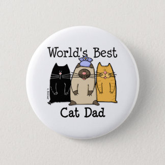 World's Best Cat Dad Button