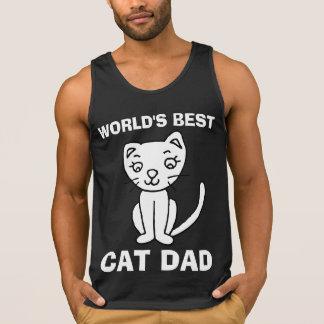WORLD'S BEST CAT DAD Mens workout t-shirts