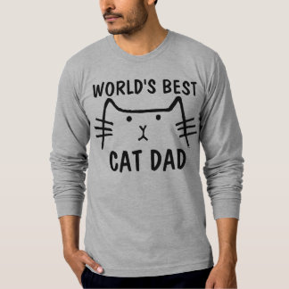 WORLD'S BEST CAT DAD t-shirts tees