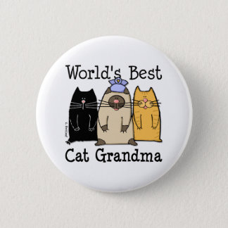 World's Best Cat Grandma Button