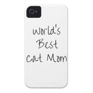 World's Best Cat Mom - Black Case-Mate iPhone 4 Cases