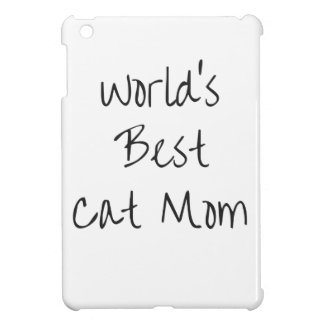 World's Best Cat Mom - Black Cover For The iPad Mini