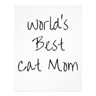 World's Best Cat Mom - Black Letterhead