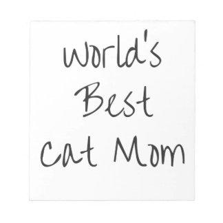 World's Best Cat Mom - Black Notepad