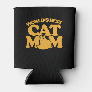 World's Best Cat mom Can Cooler