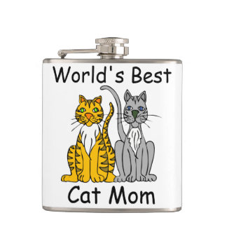 World's Best Cat Mom Flasks