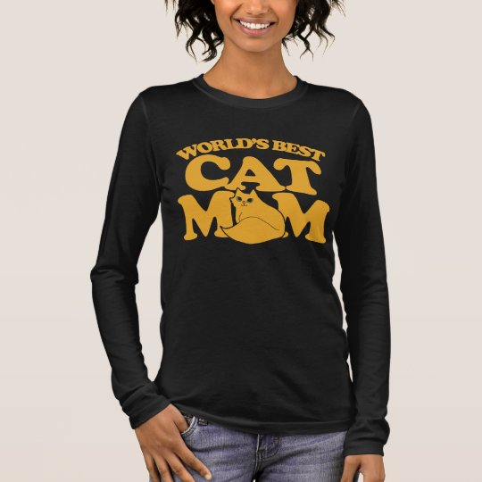 World's Best Cat mom Long Sleeve T-Shirt