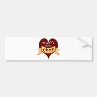 World's Best Chef Bumper Sticker