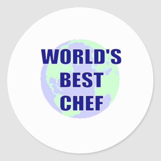 WOrld's Best Chef Round Stickers