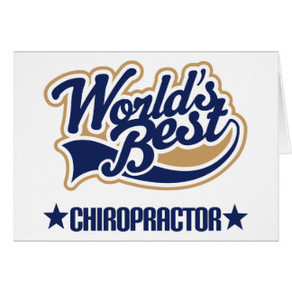 Worlds Best Chiropractor Card