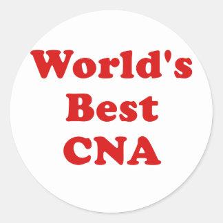 Worlds Best CNA Classic Round Sticker