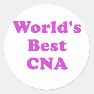 Worlds Best CNA Round Sticker