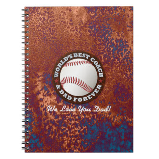 World's Best Coach and Dad 1 Notebook