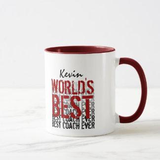 World's Best Coach Modern Grunge Design Mug