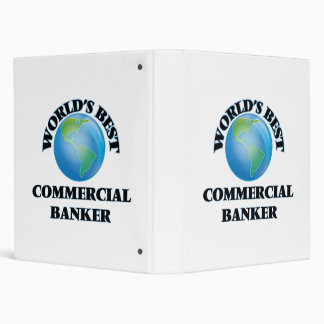World's Best Commercial Banker 3 Ring Binders