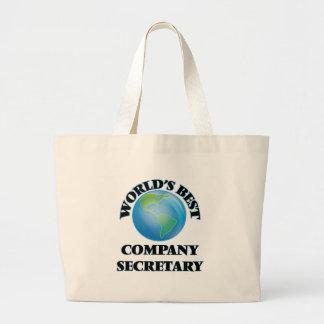 World's Best Company Secretary Canvas Bags