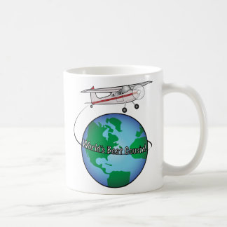 World's Best Cousin with Airplane Coffee Mug