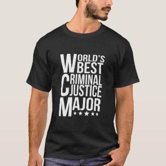 World's Best Criminal Justice Major T-Shirt
