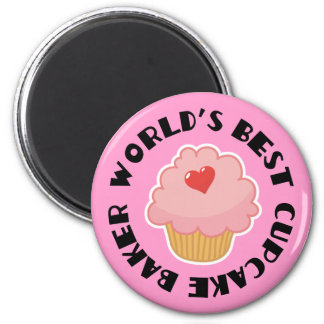 Worlds Best Cupcake Baker Cooking Gift 2 Inch Round Magnet