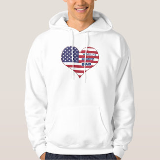 World's Best Dad American Flag Heart Hoodie