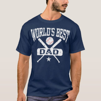 World's Best Dad Baseball T-Shirt