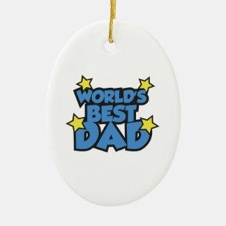 World's Best Dad Ceramic Oval Ornament