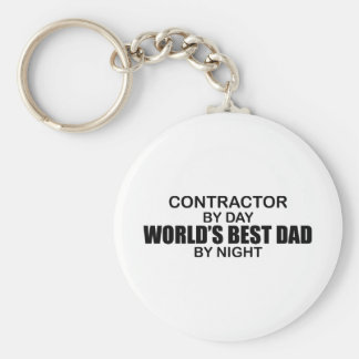World's Best Dad - Contractor Keychain