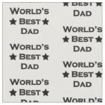 World's Best Dad Fabric