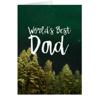 World's Best Dad - Father's Day Card