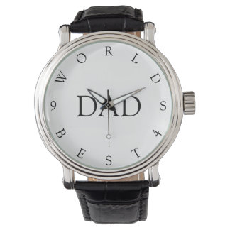 Worlds Best Dad Fathers Day Custom Mens Watch