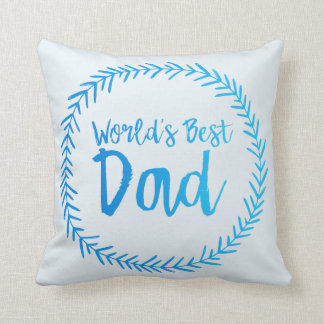 World's Best Dad - Father's Day Wreath Pillow