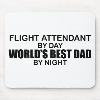World's Best Dad - Flight Attendant Mouse Pad