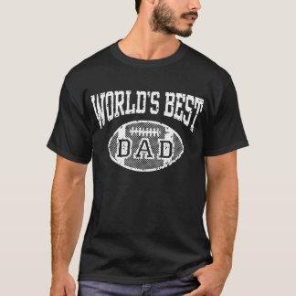 World's Best Dad Football T-Shirt