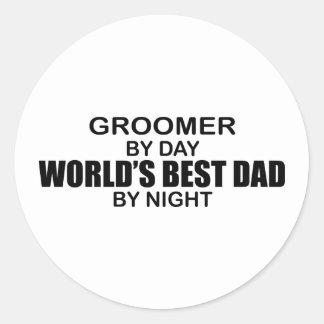 World's Best Dad - Groomer Round Sticker