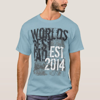 World's Best Dad Grunge 2014 Father's Day T-Shirt