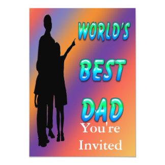"World's Best Dad Invitation 5"" X 7"" Invitation Card"