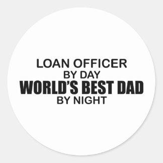 World's Best Dad - Loan Officer Classic Round Sticker