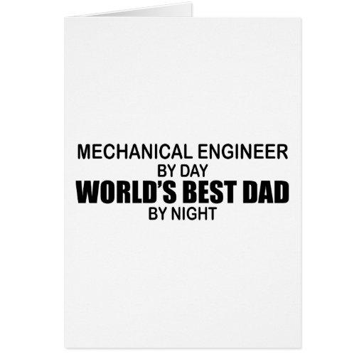 World's Best Dad - Mechanical Engineer Greeting Card