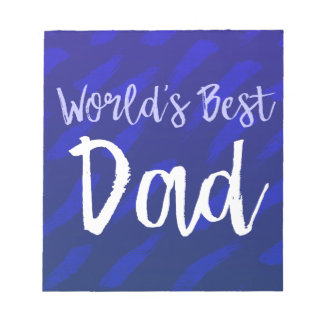 World's Best Dad Notepad