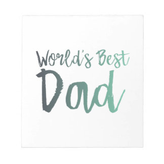 World's Best Dad Notepad