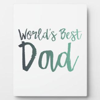 World's Best Dad Plaque