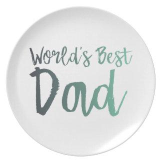 World's Best Dad Plate