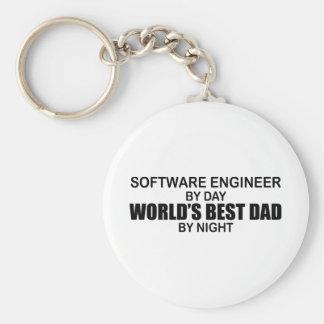 World's Best Dad - Software Engineer Keychain
