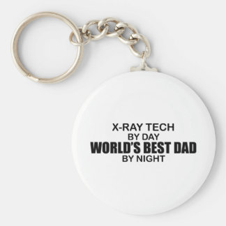 World's Best Dad - X-Ray Tech Basic Round Button Keychain