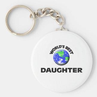 World's Best Daughter Basic Round Button Keychain