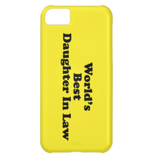 World's Best Daughter in Law iPhone 5C Case