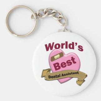 World's Best Dental Assistant Basic Round Button Keychain