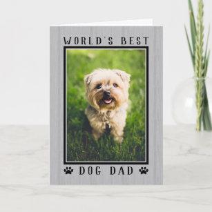 Worlds Best Dog Dad Happy Birthday Photo Card