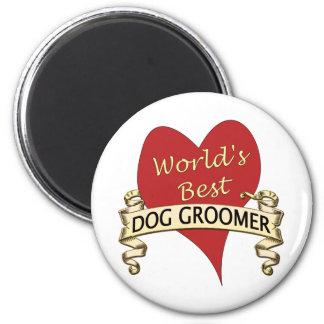 World's Best Dog Groomer 2 Inch Round Magnet
