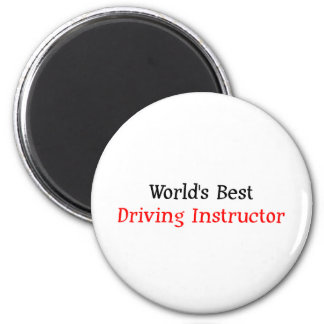 World's Best Driving Instructor 2 Inch Round Magnet
